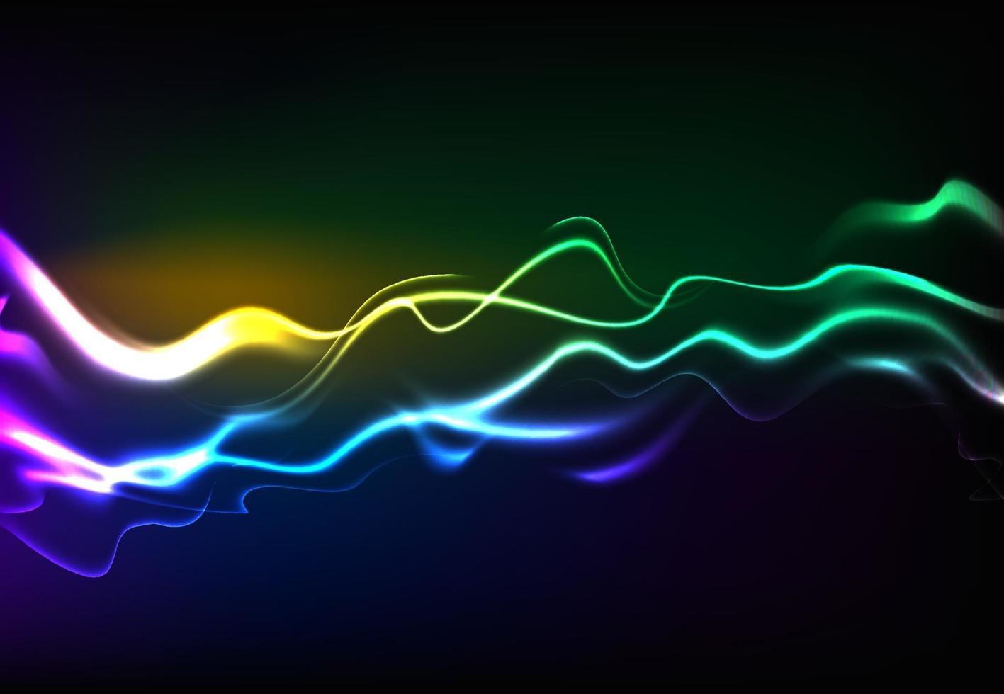 modern sprechende Schallwellen, die dunkelblaues Licht oszillieren, abstrakter Technologiehintergrund. Vektorillustration vektor