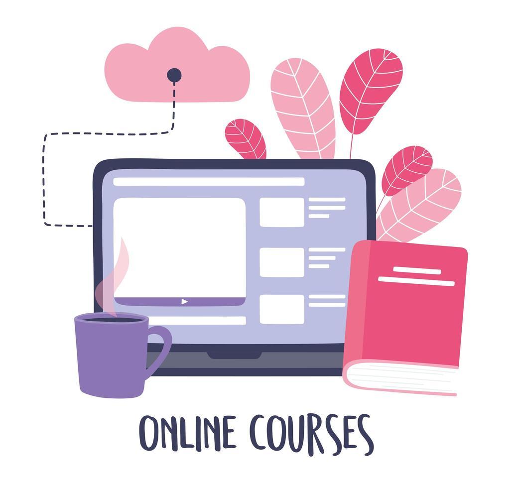Online-Training mit Computer vektor