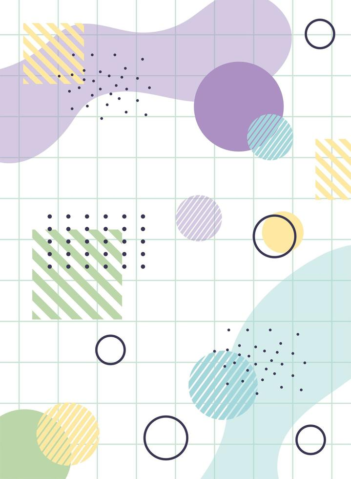 bunter geometrischer und abstrakter Hintergrund vektor