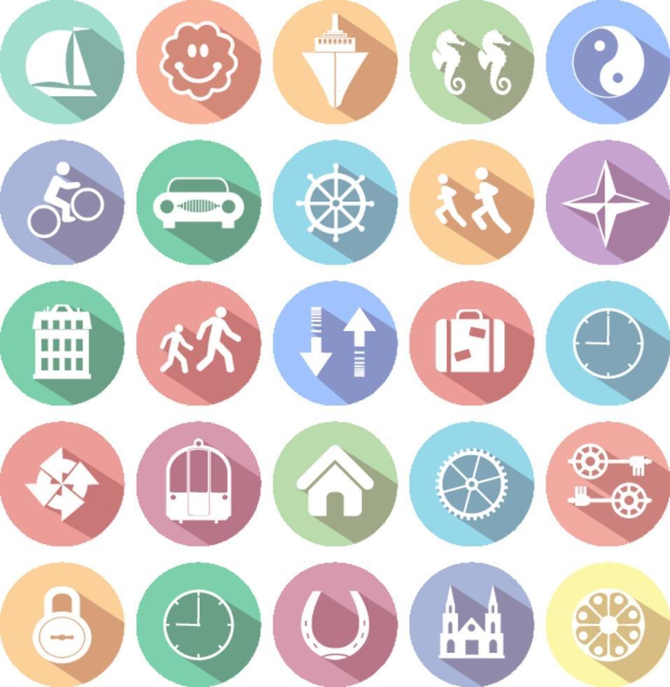 uppsättning webbikoner för företag, finans och kommunikation vektor