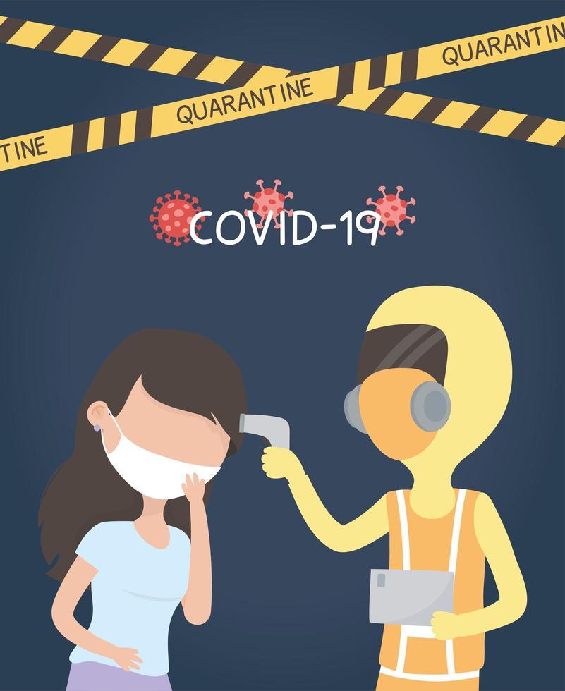 temperaturkontroll för koronavirus vektor