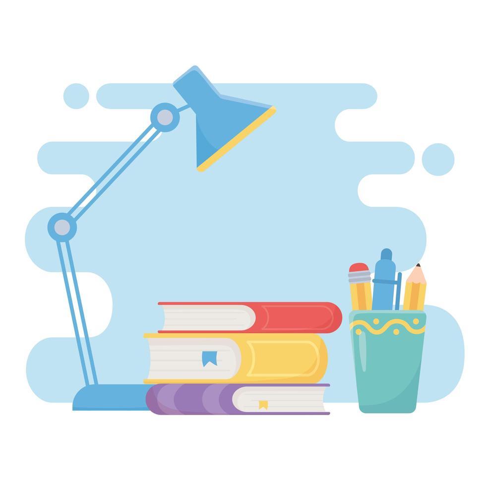 utbildning online med trave böcker vektor