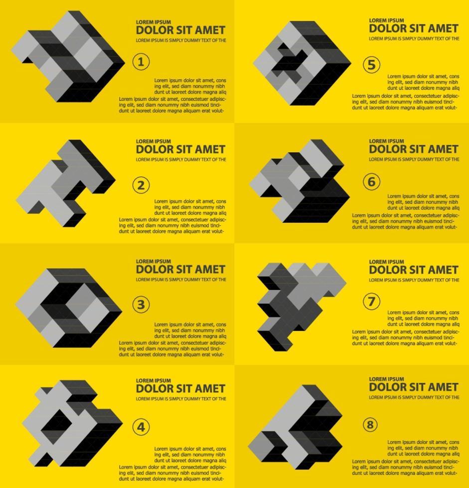 den abstrakta tredimensionella kuben som ett element i designmallen vektor