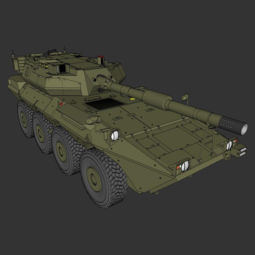 illustration av en militär stridsvagn vektor
