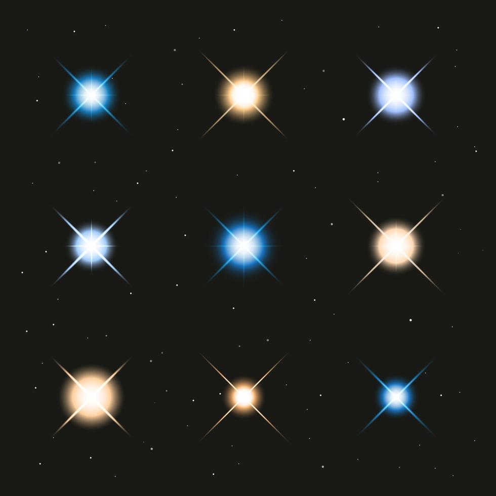 glödande ljusstjärnor, vektorillustration vektor