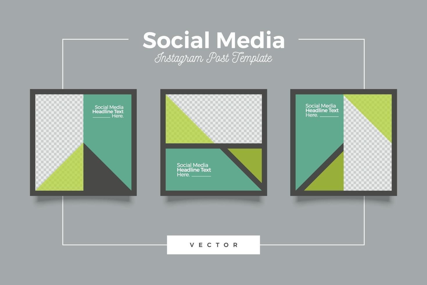 grön modern mall för sociala medier vektor