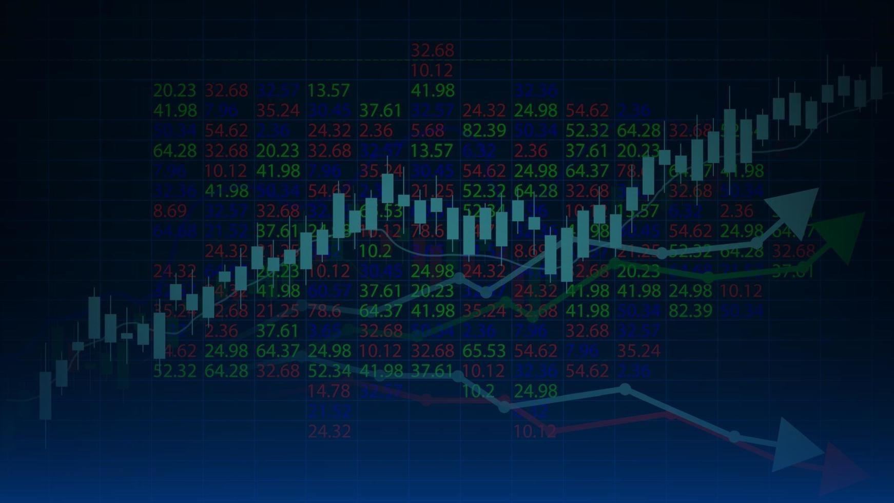 aktiemarknadsdiagramhandelsdiagram för affärs- och finansiella begrepp, vektorillustration vektor