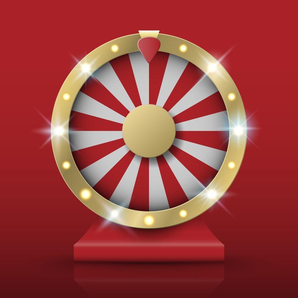 snurrande förmögenhet hjul, vektor illutration