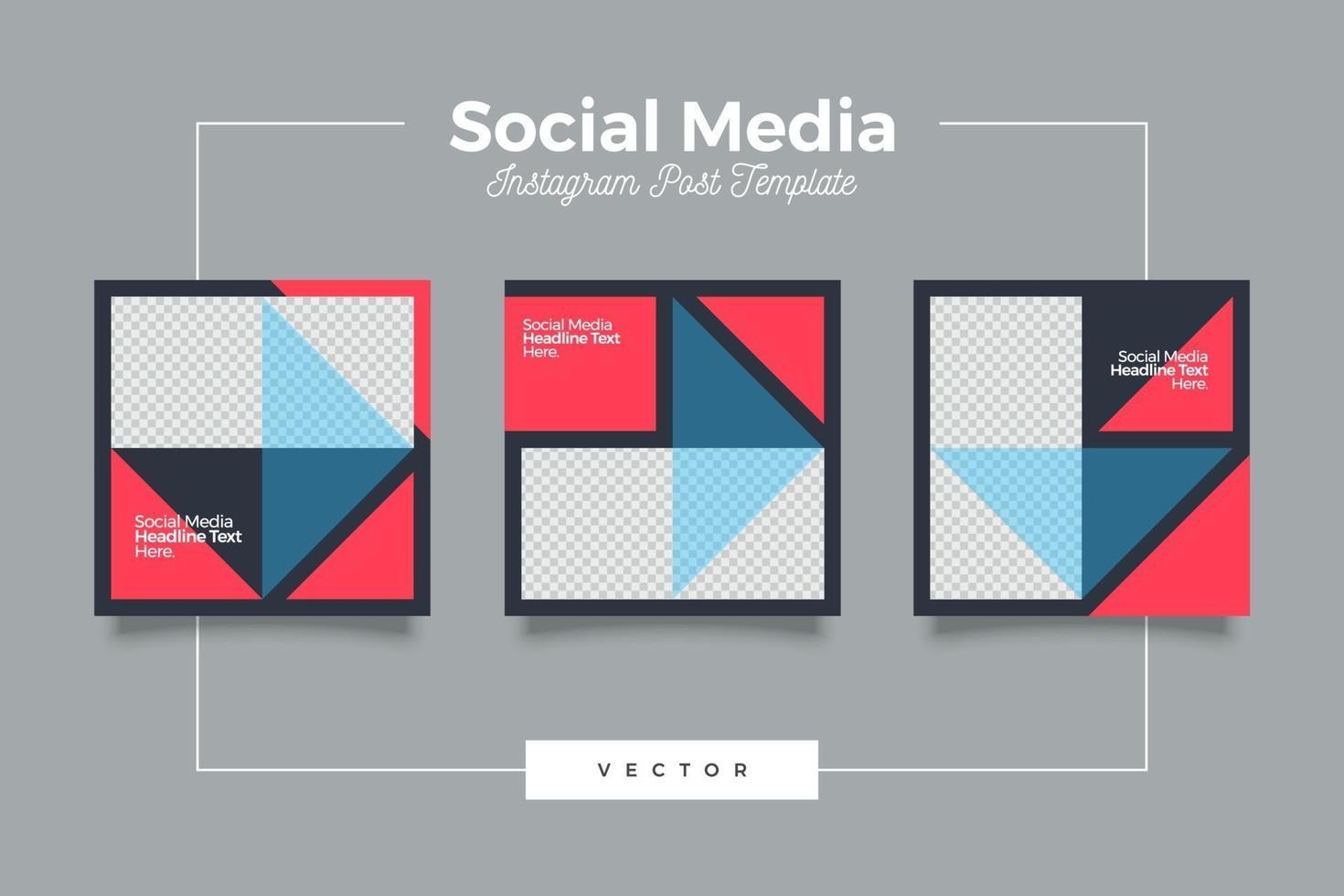 geometrische moderne Social-Media-Vorlage Banner-Set vektor