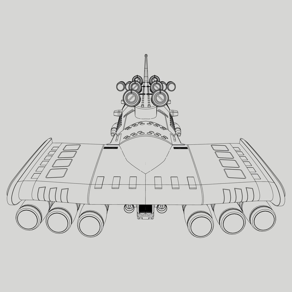 linear vom Raumschiff vektor