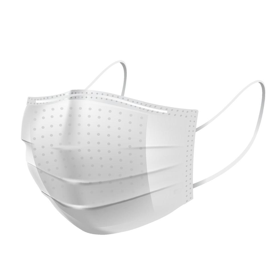 Gesichtsverschmutzungsmaske, für medizinische und Staub pm2.5, Gefahrenschutz oder Gesundheitskrankheit Husten Atemschutzgeräte Allergie für Krankenhaus vektor