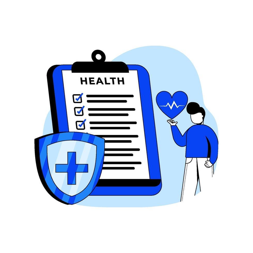 Krankenversicherungsikonenkonzept vektor