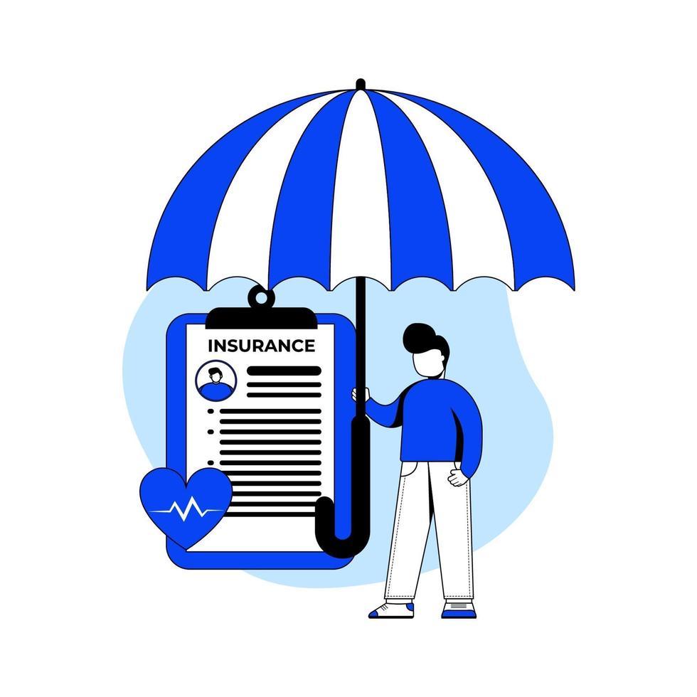 medicinsk försäkring ikon koncept vektor