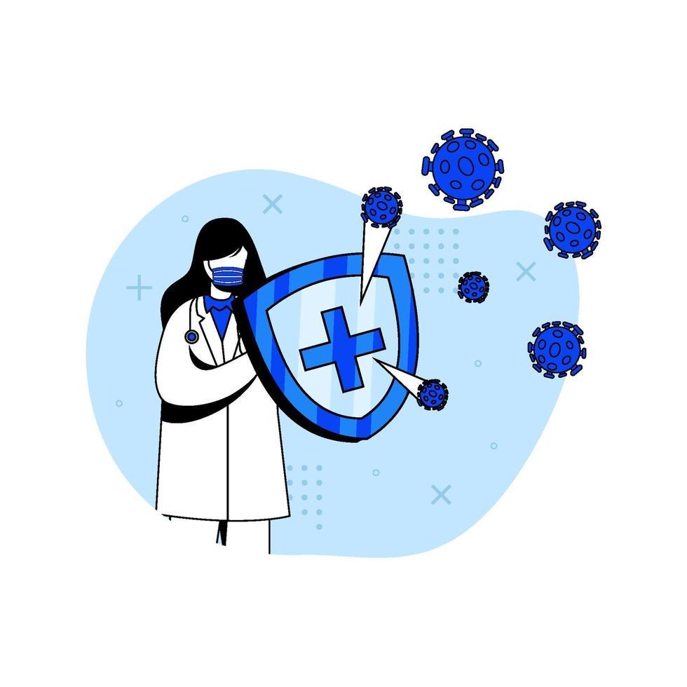 virus förebyggande ikon koncept vektor