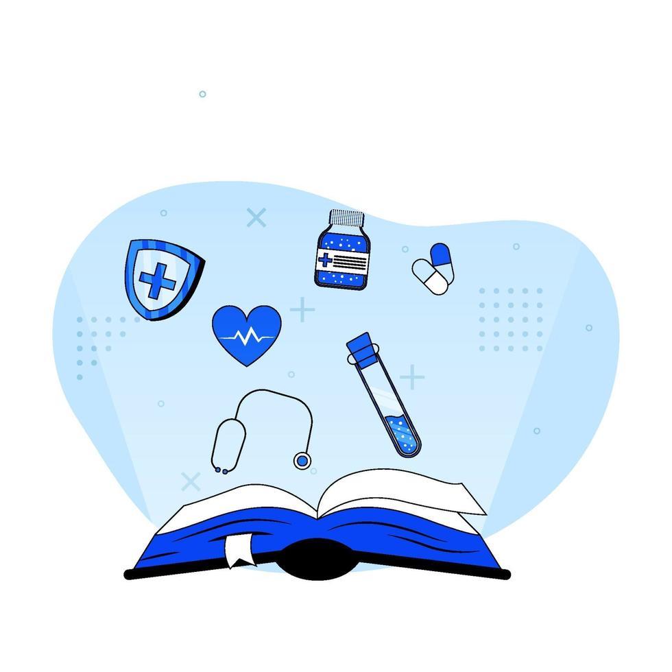 medicinsk utbildning ikon koncept vektor
