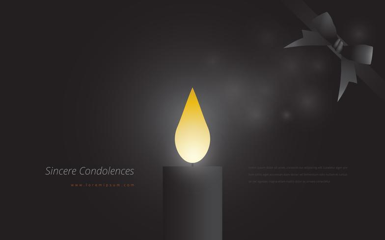 Condolences Redigerbar Mallhälsning Illustration vektor