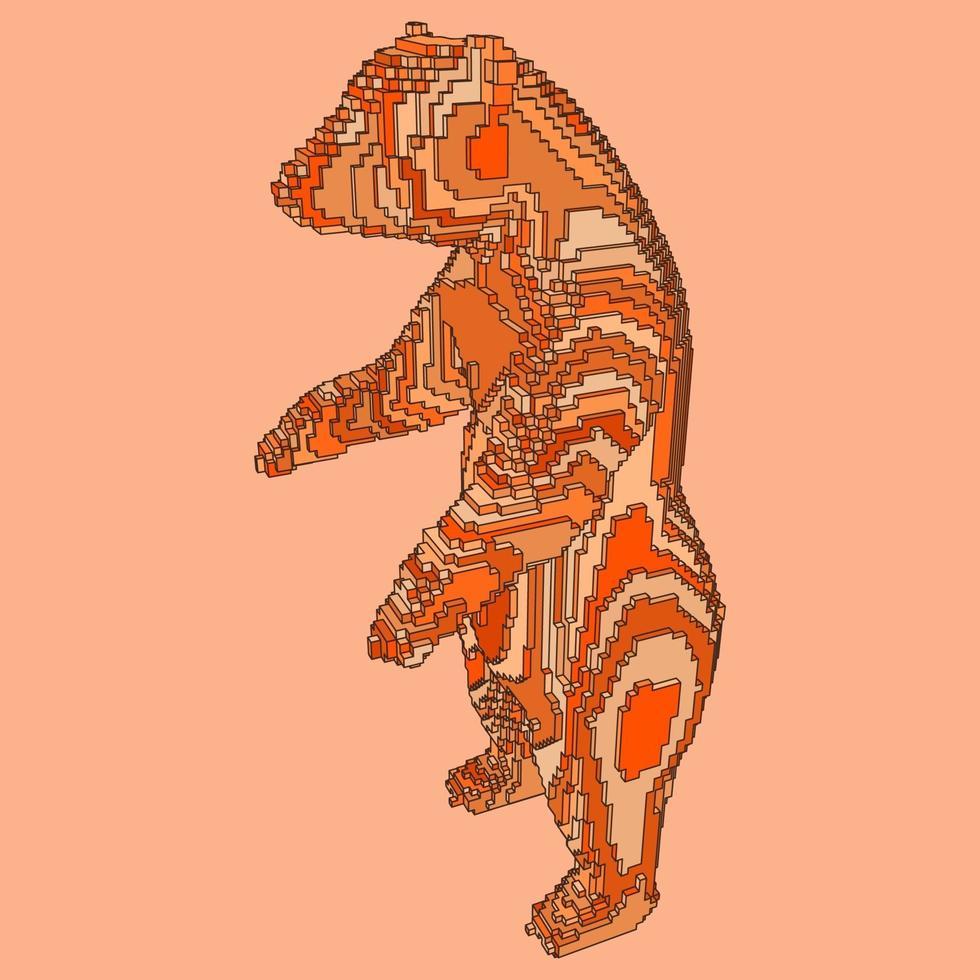 voxel design av en björn vektor