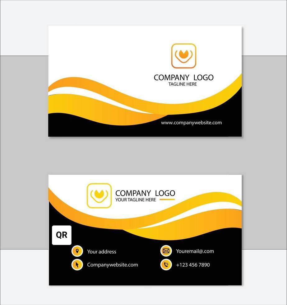 saubere Visitenkartenvorlage des Unternehmens vektor