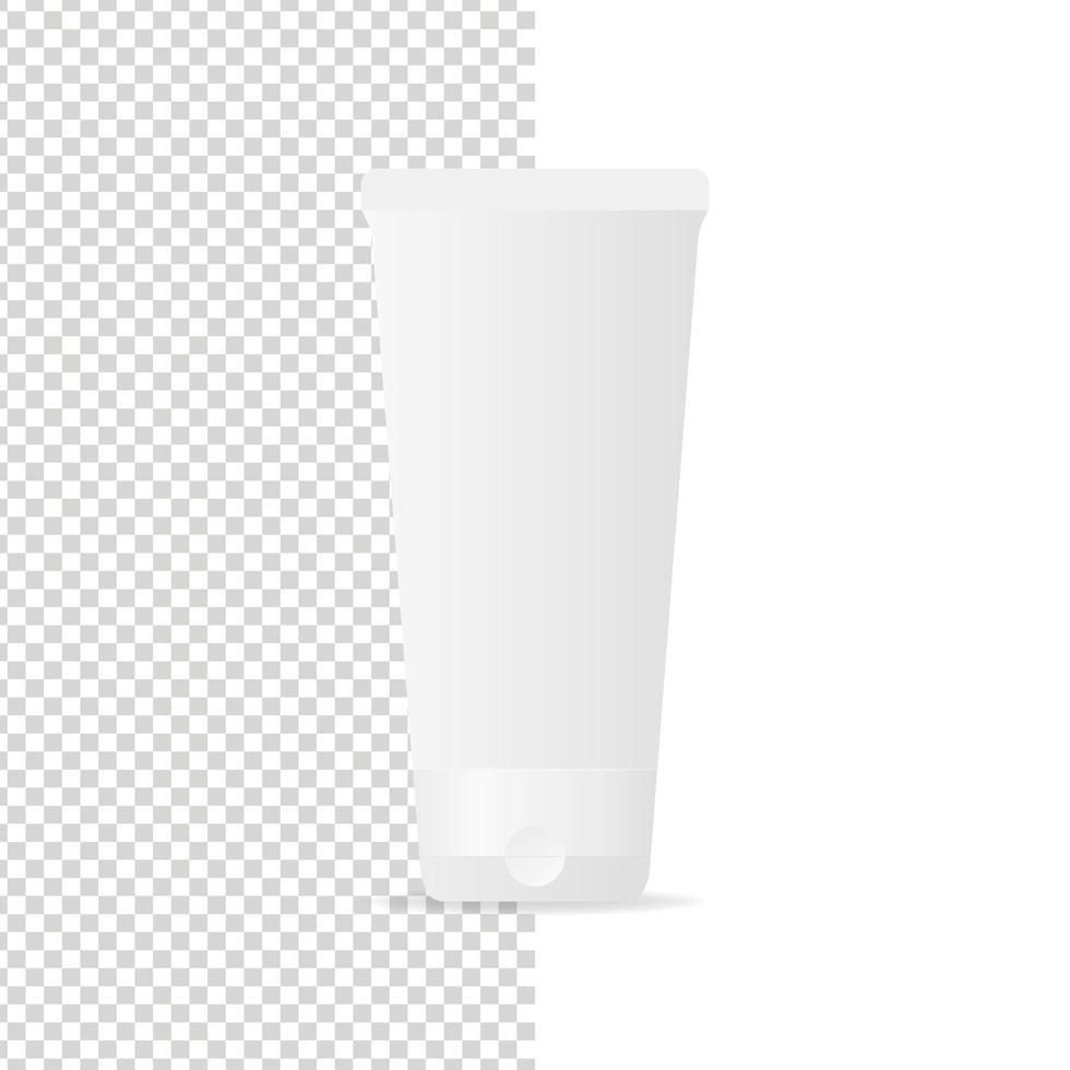 plast kosmetiska rör mockup. plast kosmetisk behållare. mockup vektor isolerade. mall design. realistisk vektorillustration.