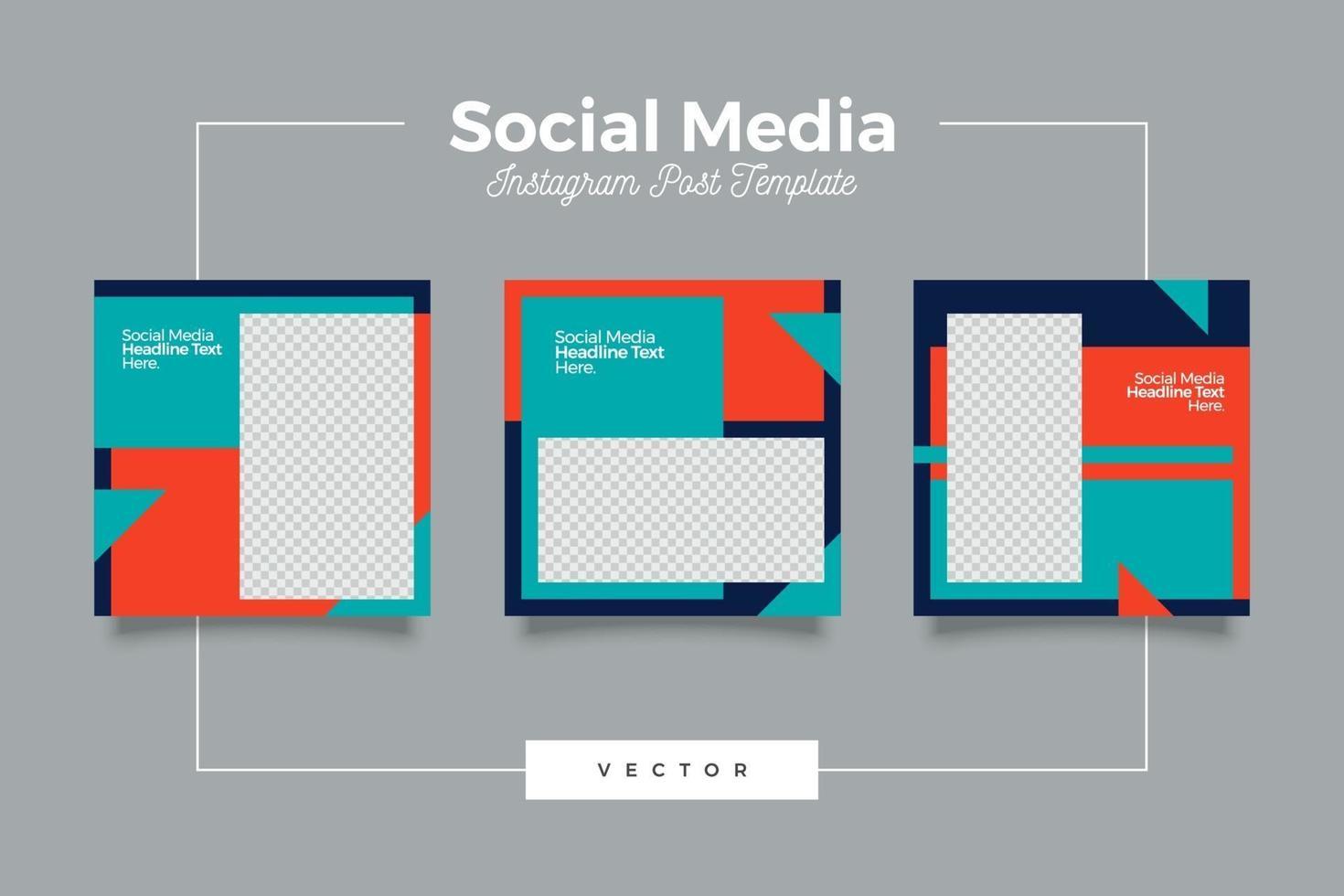 minimalistisk modern social media postmall vektor