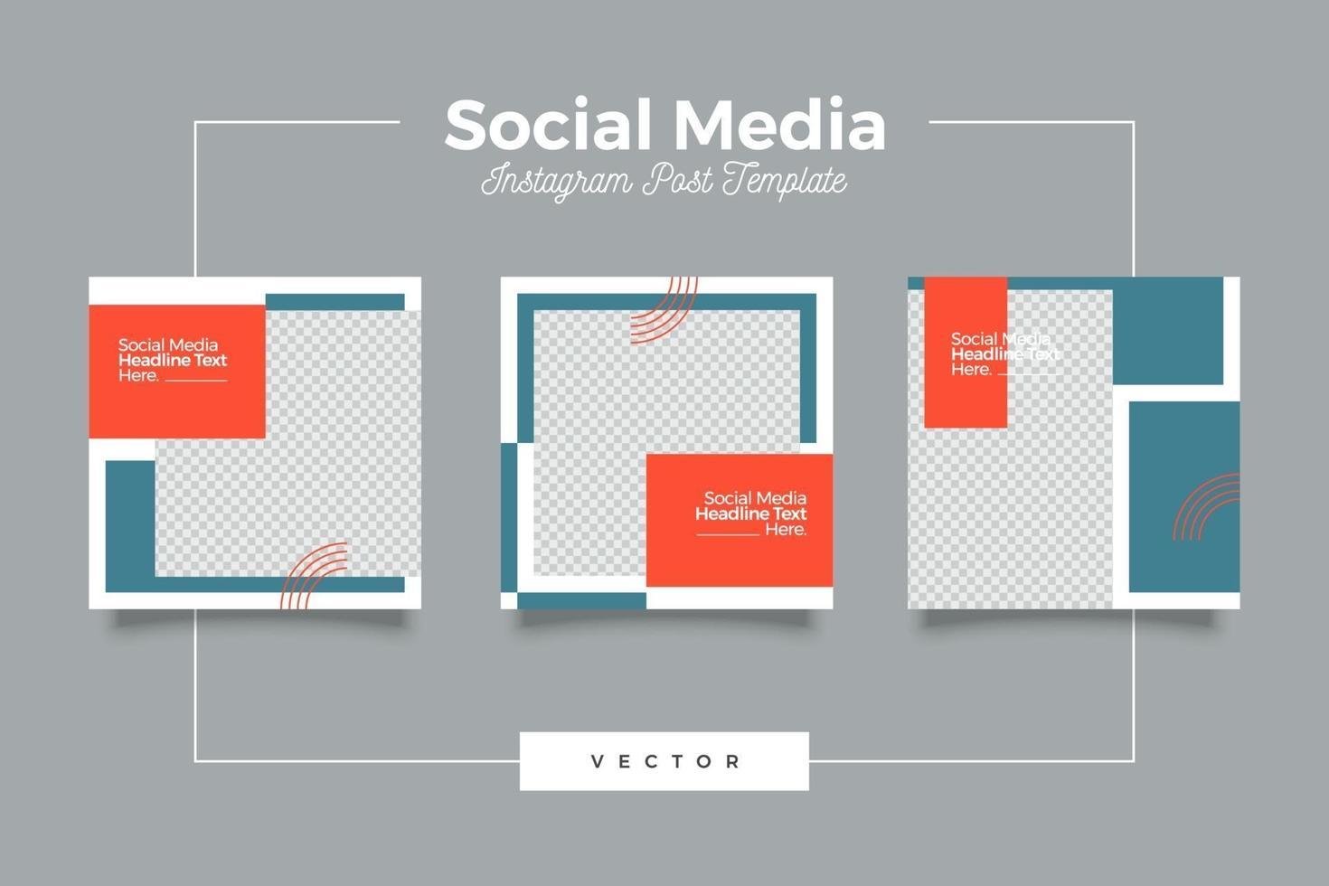 affärsbaserade sociala medier post banderoll vektor