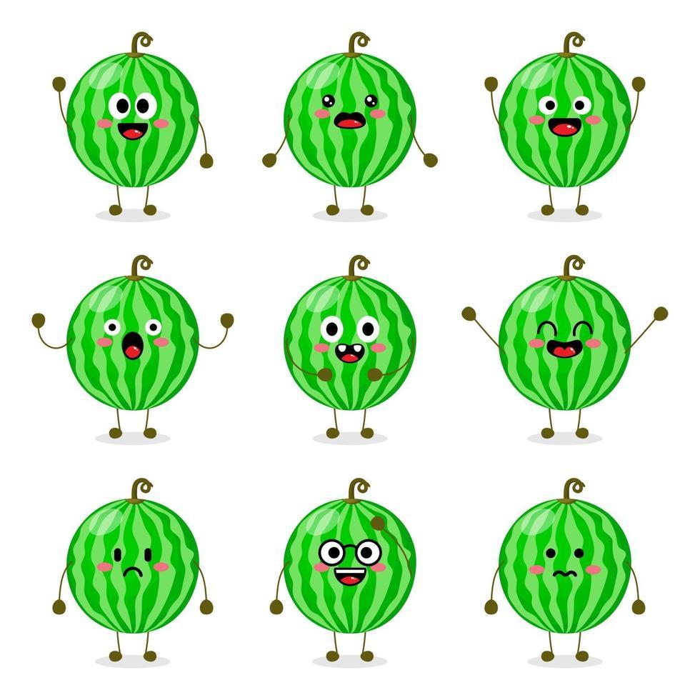söt vattenmelon frukt vektor