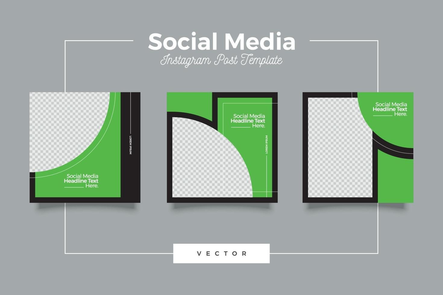 futuristiska inläggsmall för sociala medier vektor