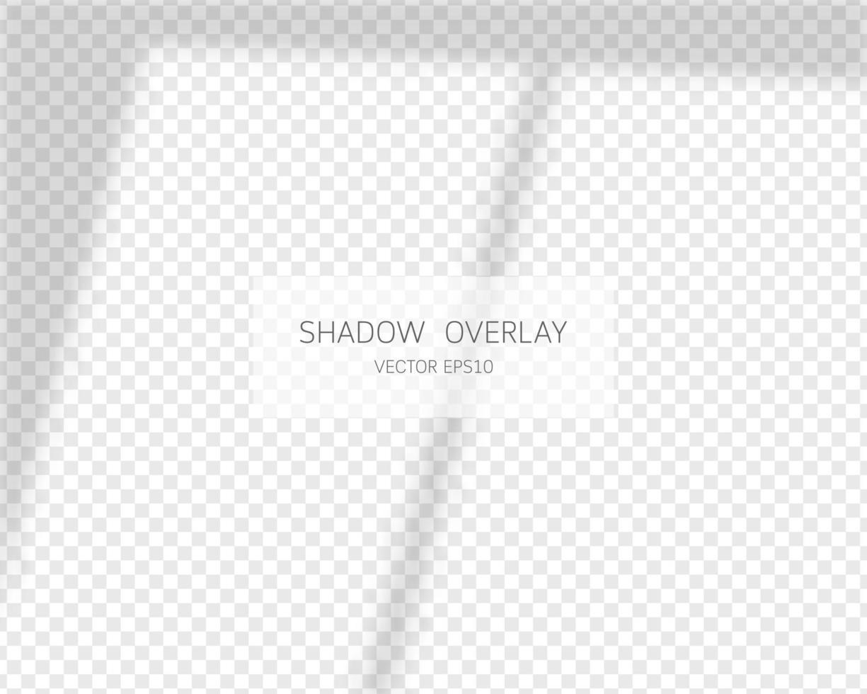 skugga överlag effekt. naturliga skuggor från fönstret isolerade. vektor illustration.