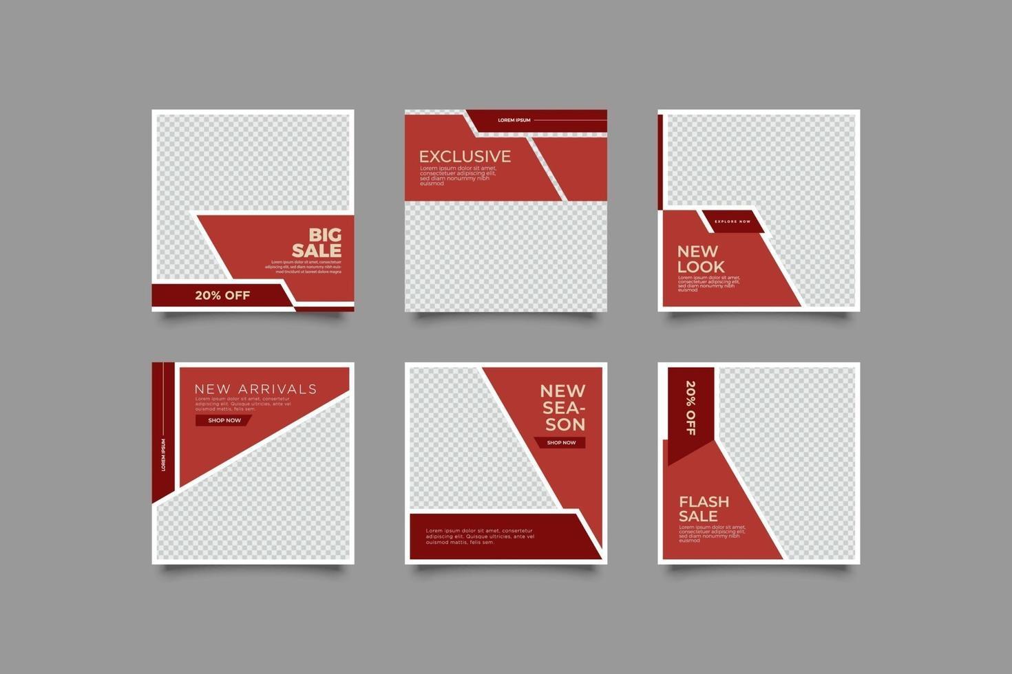 minimalistisk inläggsmall för tegelstenfärg vektor