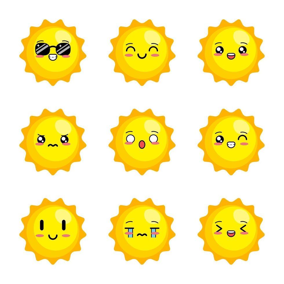 söt sol vektor