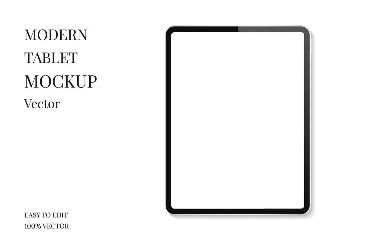 tablett mockup vektor. modern surfplatta med tom skärm. realistisk tablettdator isolerad på vit bakgrund. vektor