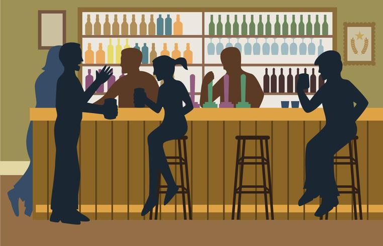 trångt bar illustration vektor