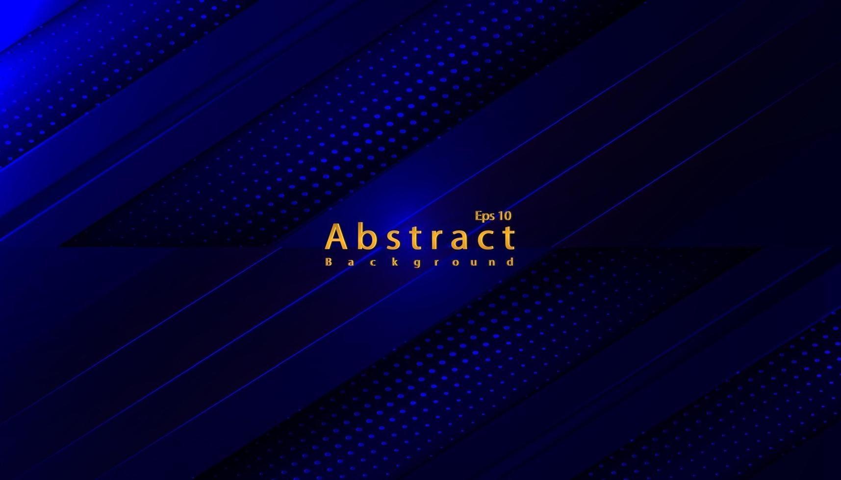 Luxus abstrakter blauer dunkler Hintergrund mit Papierschnittdekoration-Halbtonentwurf vektor