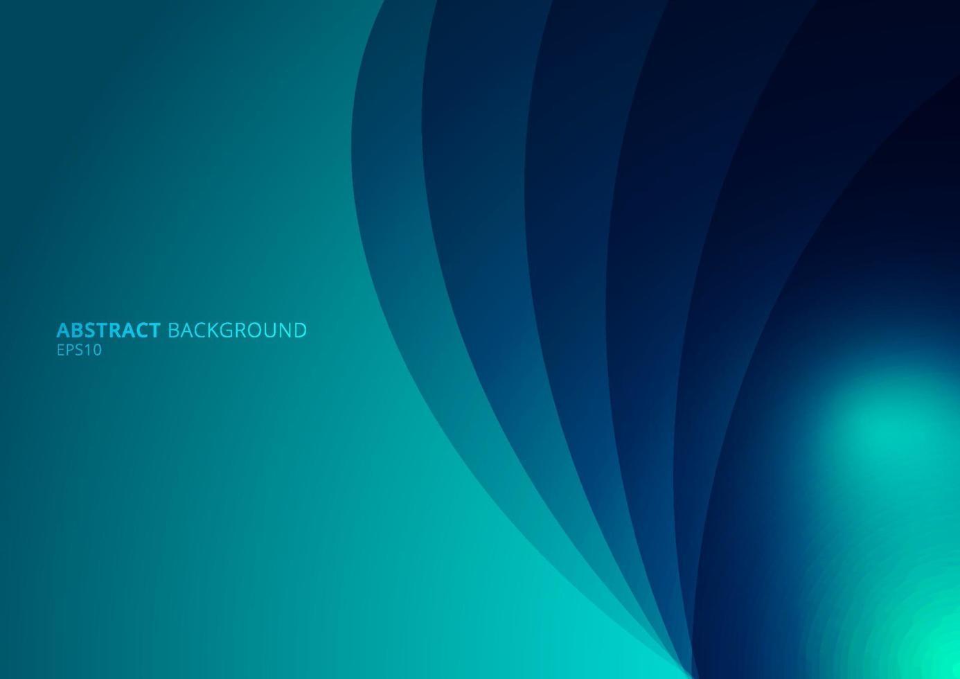 gekrümmte Ebenen des abstrakten blauen Hintergrunds mit Schatten und Raum für Ihren Text vektor