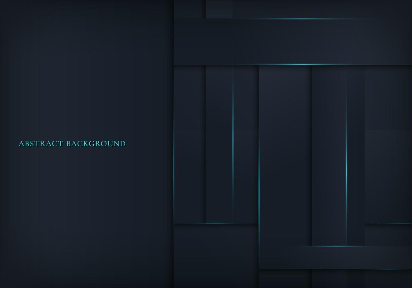 abstrakter Hintergrund dunkelblaue Streifen Papierschnittschichtstil mit Beleuchtung. vektor