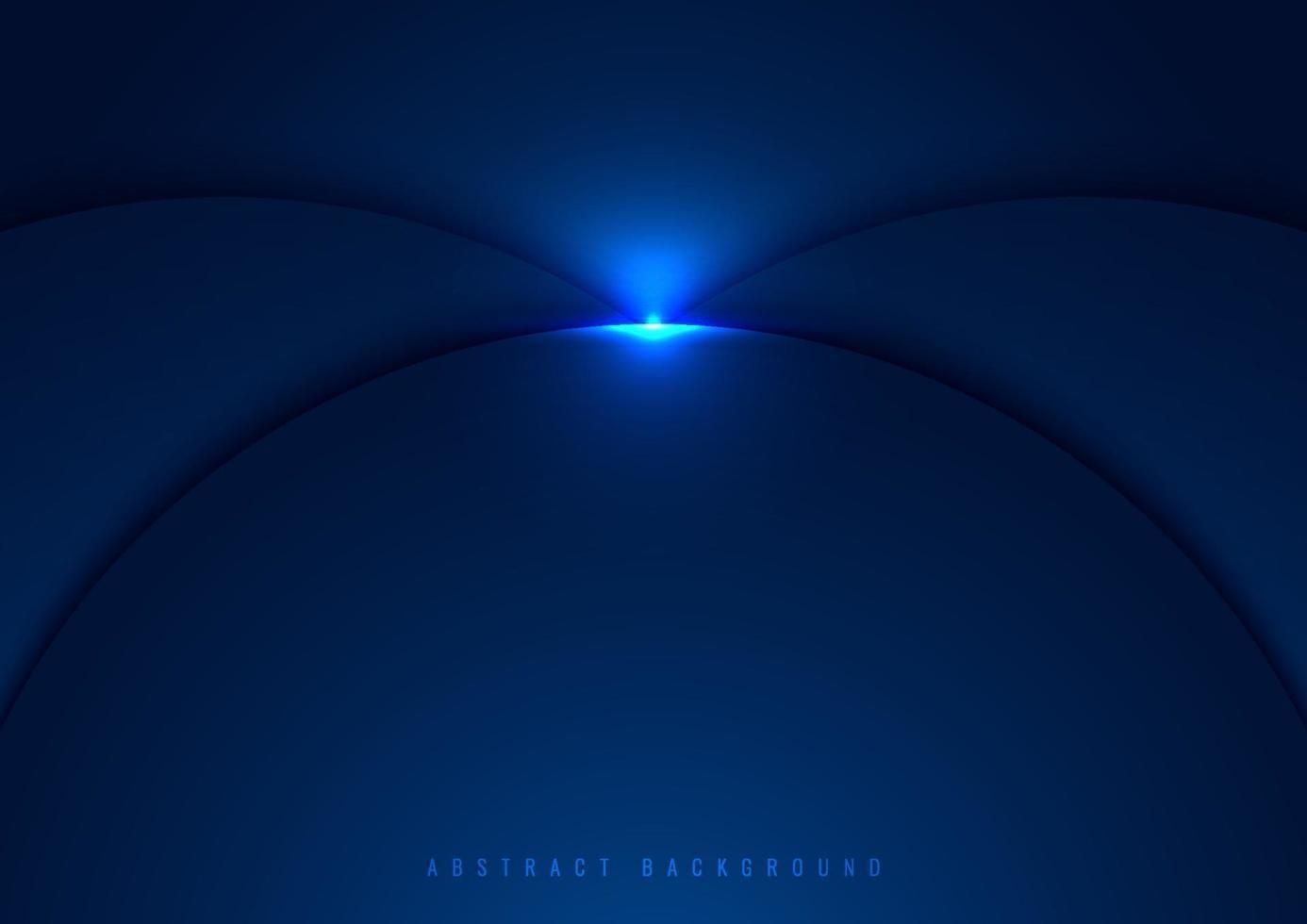 blå cirklar överlappar lager med glödbelysningseffekt på mörk bakgrund vektor