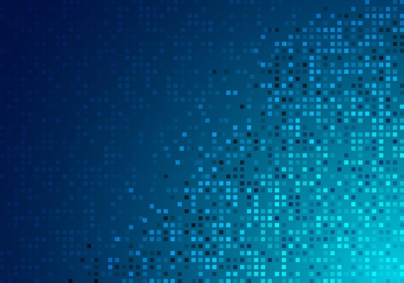 digitales futuristisches Konzept der abstrakten Technologie blau leuchtender Pixelhintergrund und -beschaffenheit. vektor