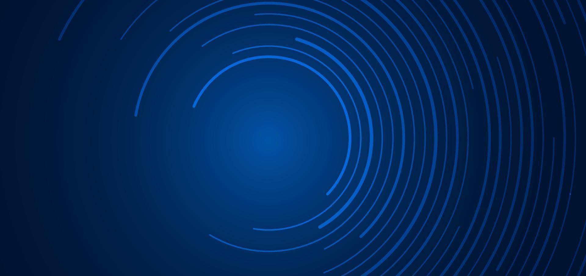 abstrakt teknik futuristiskt koncept blå cirkulära linjer banner design anslutning vektor