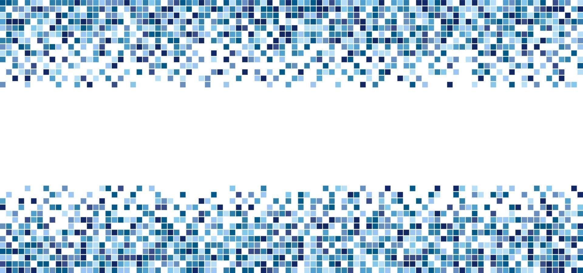blaues quadratisches Mustermosaik lokalisiert auf weißem Hintergrund vektor