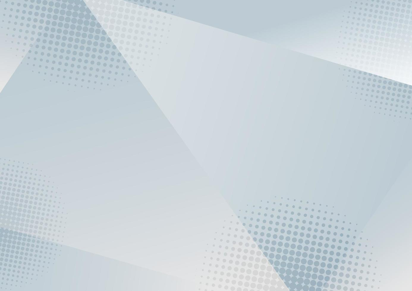 abstrakter weißer und grauer Farbverlaufhintergrund des niedrigen Polygons mit Halbtoneffekt. vektor