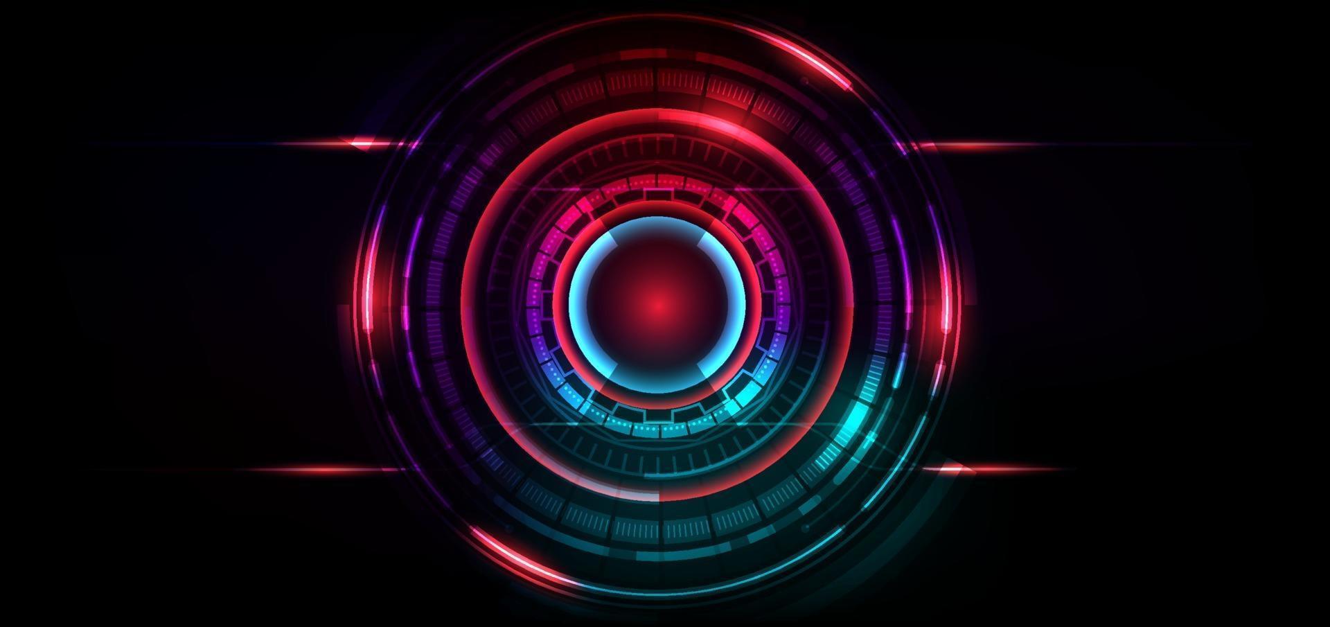 abstrakt futuristisk teknikbakgrund. hud cirkel element. vektor