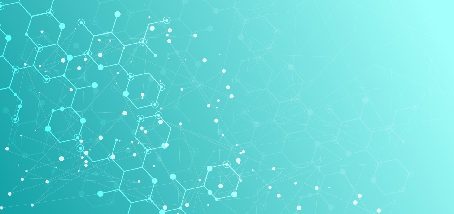 Vorlage für den Hintergrund des Wissenschafts- und Technologiekonzepts. vektor