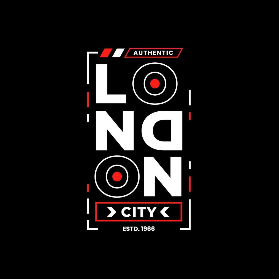 london city typografi bokstäver design vektor