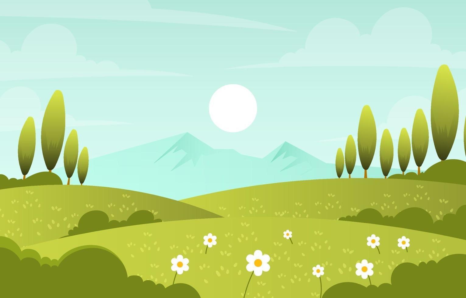 Frühlingsnaturlandschaft vektor