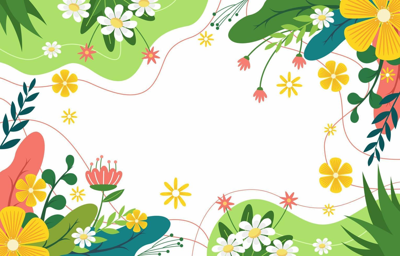 Natur Frühling Hintergrund vektor
