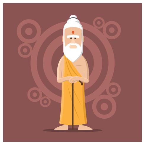manlig guru karaktär vektor