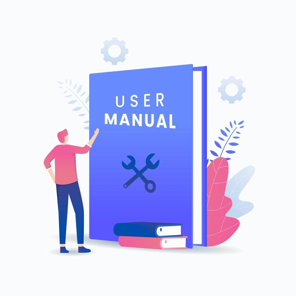 Benutzerhandbuch Buch Vektor-Konzept vektor