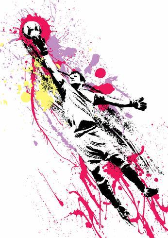 GoalKeeper Abstrakt fotbollsspelare vektor