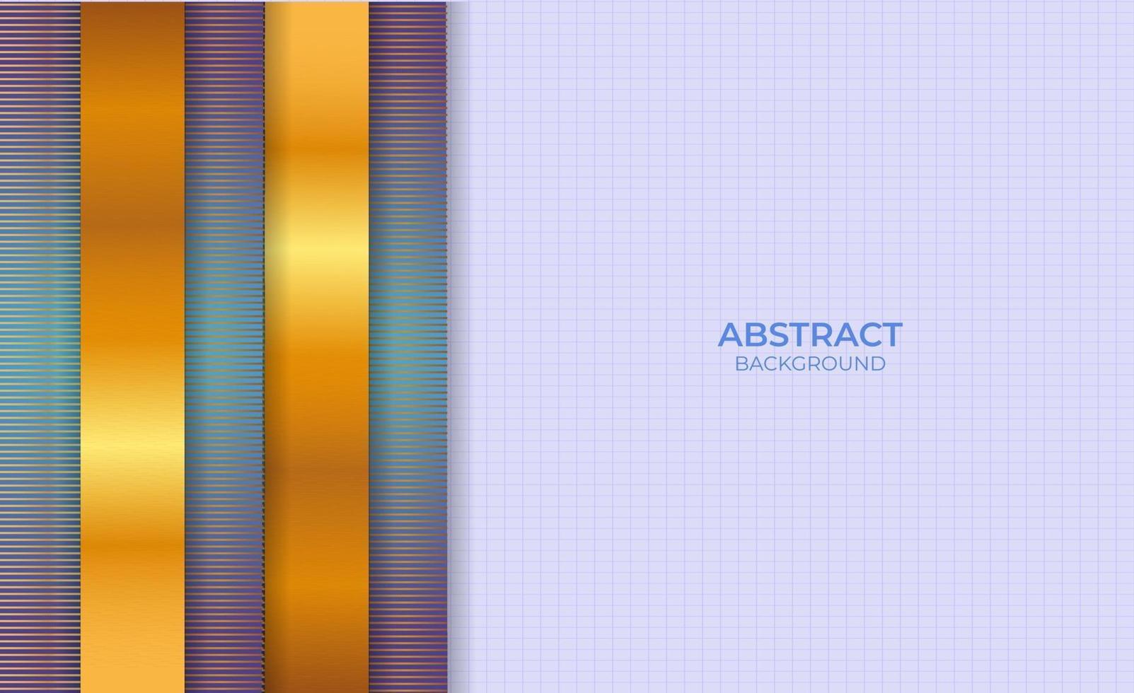 Design Backgroun abstraktes Blau und Gold vektor