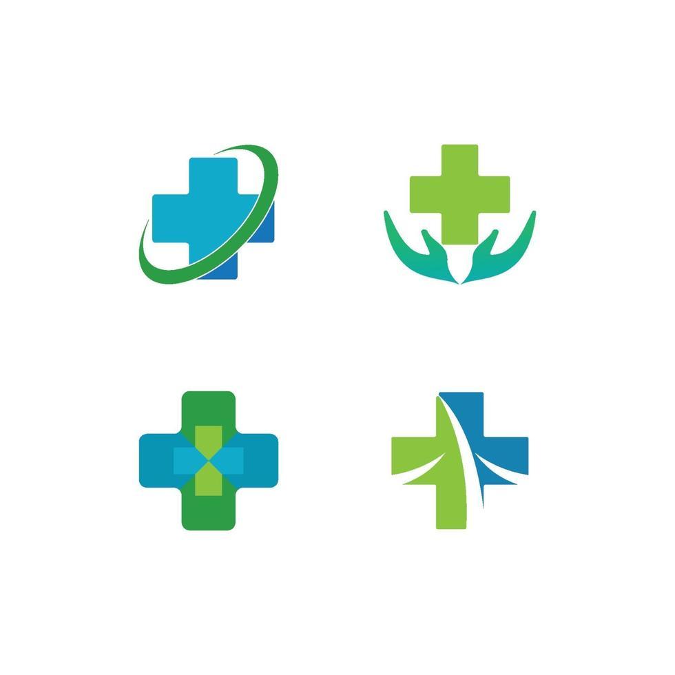 hälso-medicinsk logotyp vektor